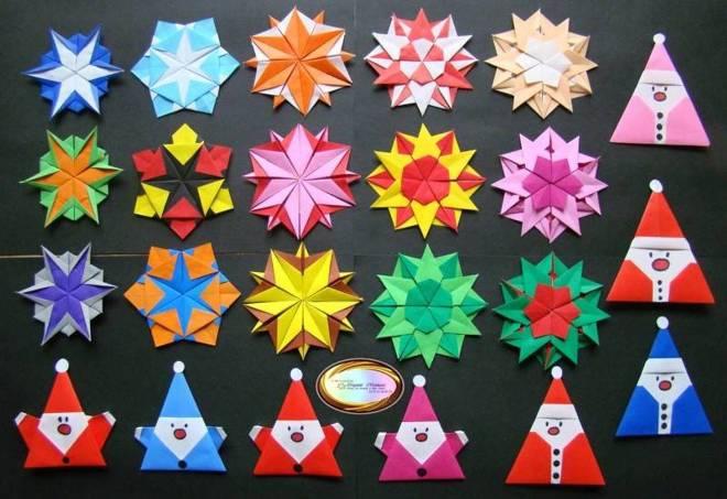Бумажные украшения в технике оригами
