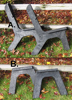 Buy Bench Legs Pair Recycled Plastic At Cozywinters