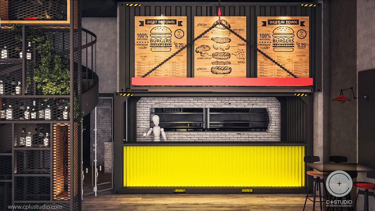Burger House Restaurant Interior Design C Studio Architects