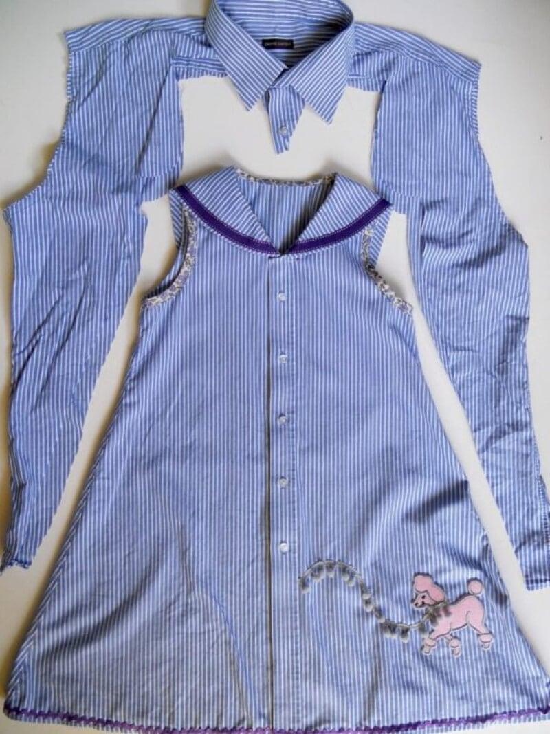 女の子のためのドレスのシャツを回します