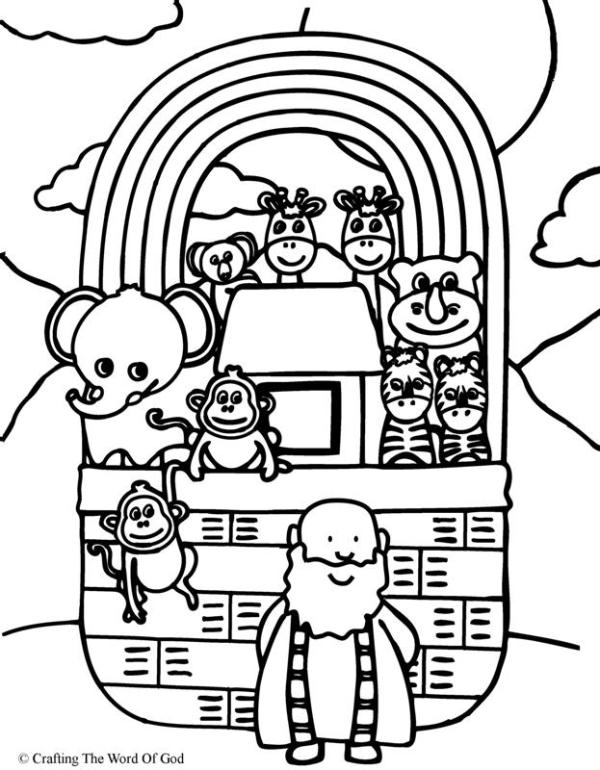 noah and the ark coloring pages # 76