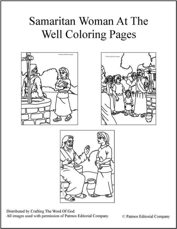 woman at the well coloring page # 4