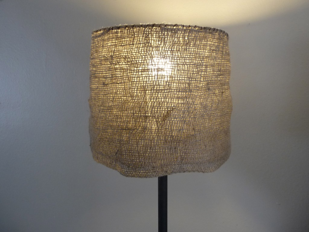 Diy Garden Burlap Lamp Shade Craft Organic