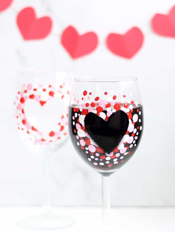 How To Paint Wine Glasses Diy Valentine S Day Wine Glasses