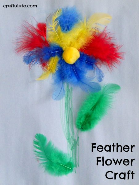 Feather Flower Craft   Craftulate