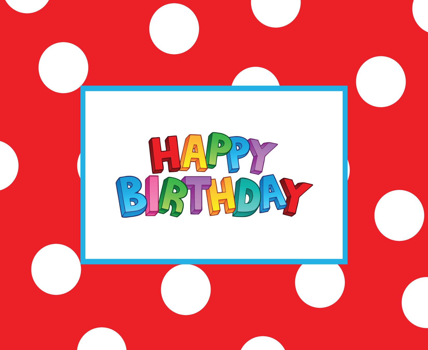 Amber Card Birthday Happy