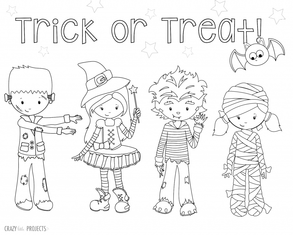 Cute Free Printable Halloween Coloring Pages Crazy Little Projects