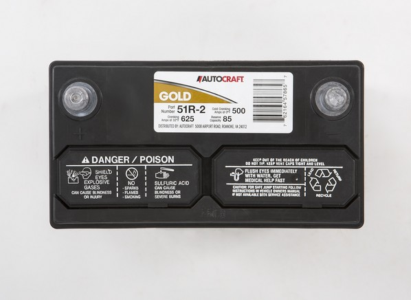Gold Battery Autocraft 2 Warranty 72