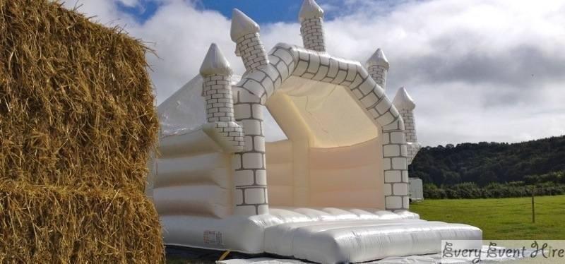 White Wedding Bouncy Castle
