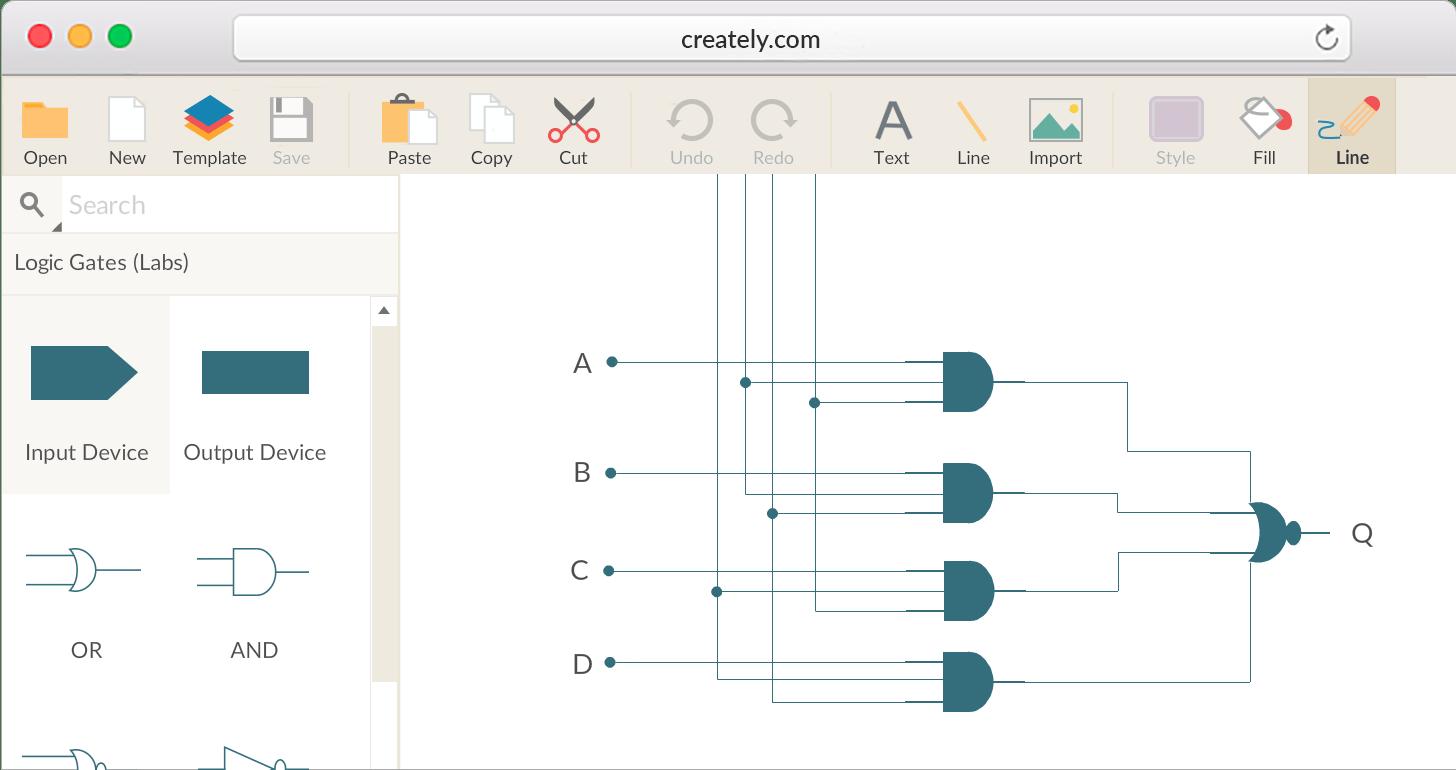 Logic Circuit Diagram Maker Online - Wiring Circuit •