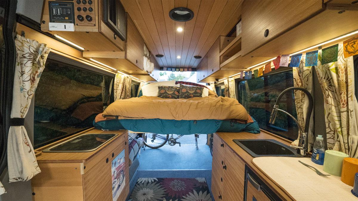 Van Conversion Upgrade With A Custom Kitchen Creatid