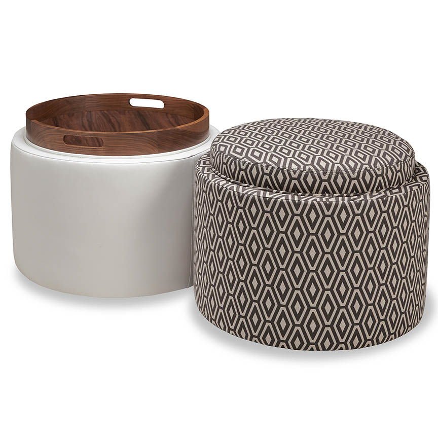 Small Grey Ottoman Storage