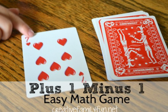 Plus 1 Minus 1  An Easy Math Card Game   Creative Family Fun Practice your plus 1 minus 1 math facts with this fun math card game  It s