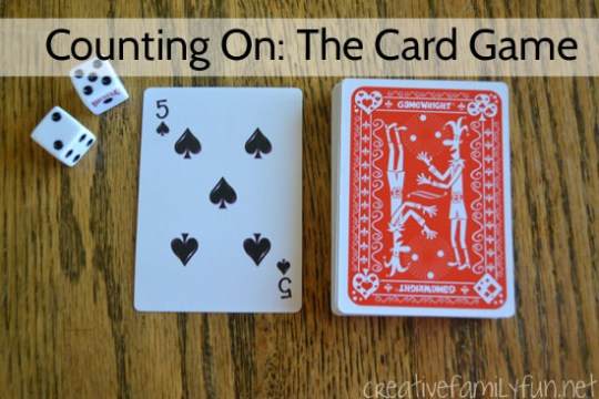 Counting On Card Game   Creative Family Fun Grab a deck of cards and some dice to play this simple counting on card game