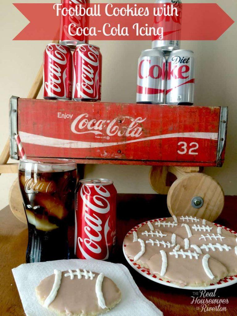 Football Cookies with Coca-Cola Icing #ShareYourSpirit #Ad #cbias | www.housewivesofriverton.com