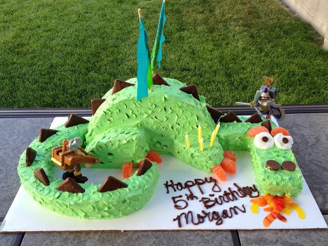 Fire breathing dragon birthday cake tutorial - header