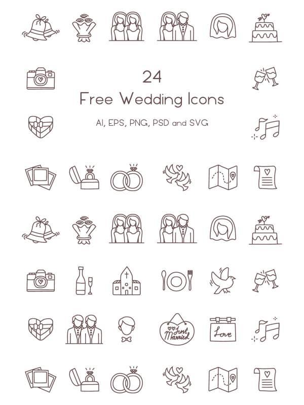free wedding icons # 2