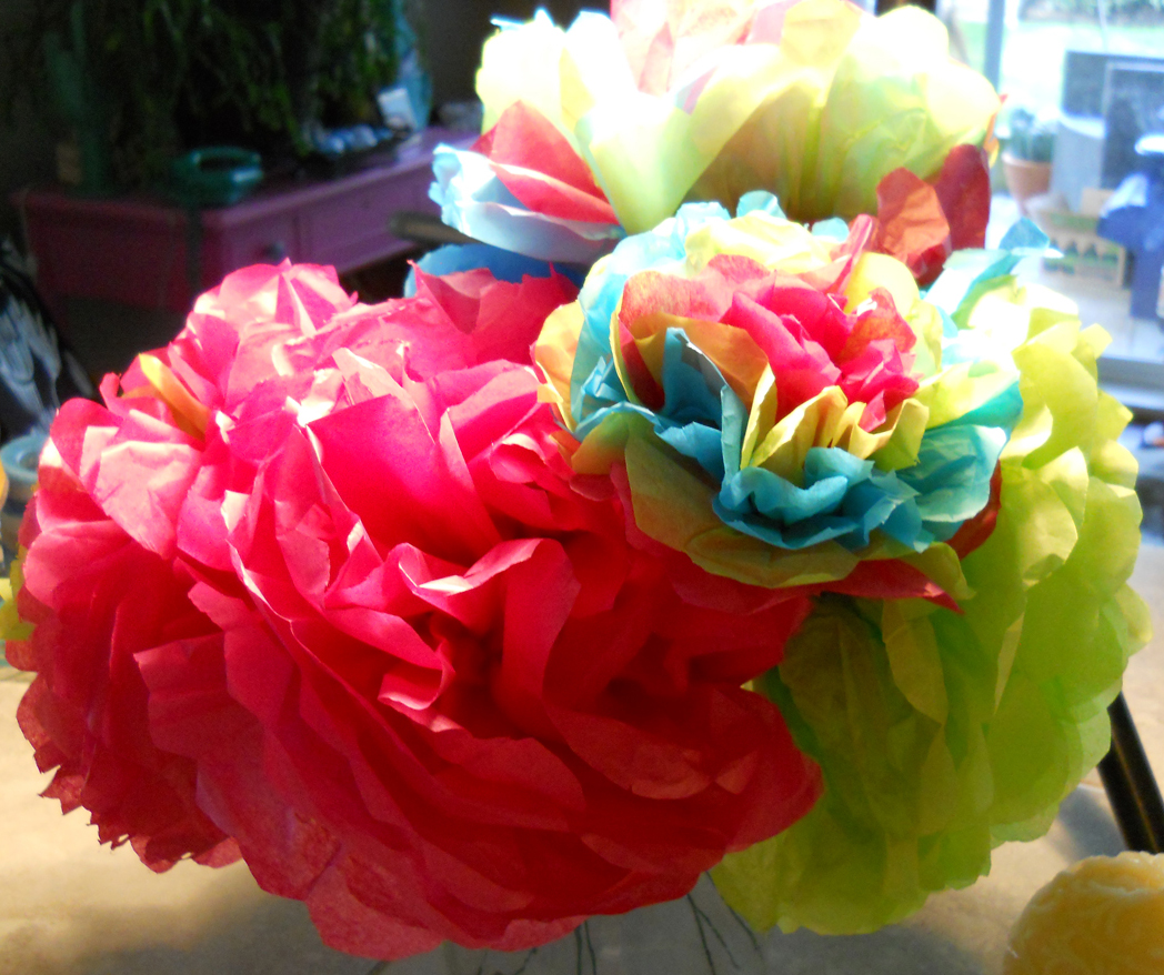 Paper Blooms     Mexican Style   creativityblossomsafter60 Colourful Mexican Tissue Flowers