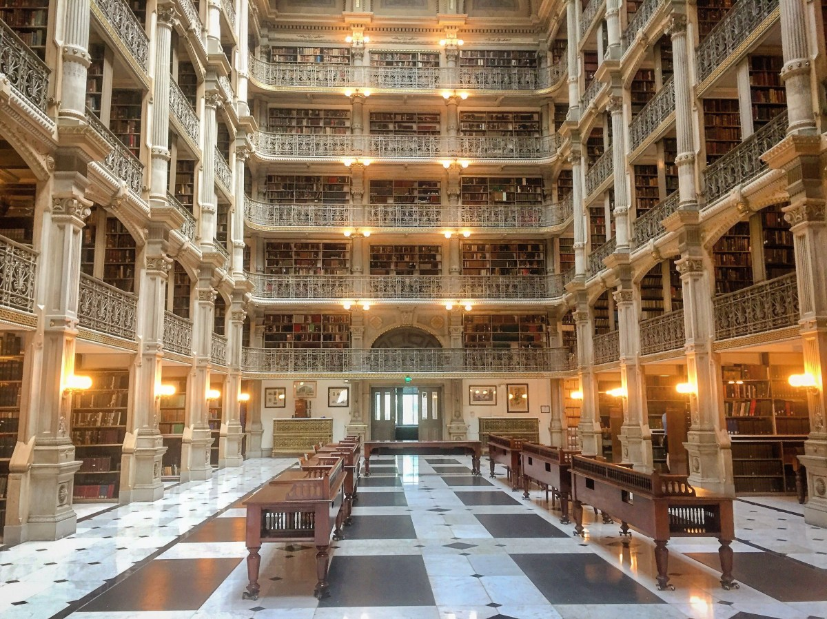 George Peabody Library – Baltimore – The Critiquing Chemist
