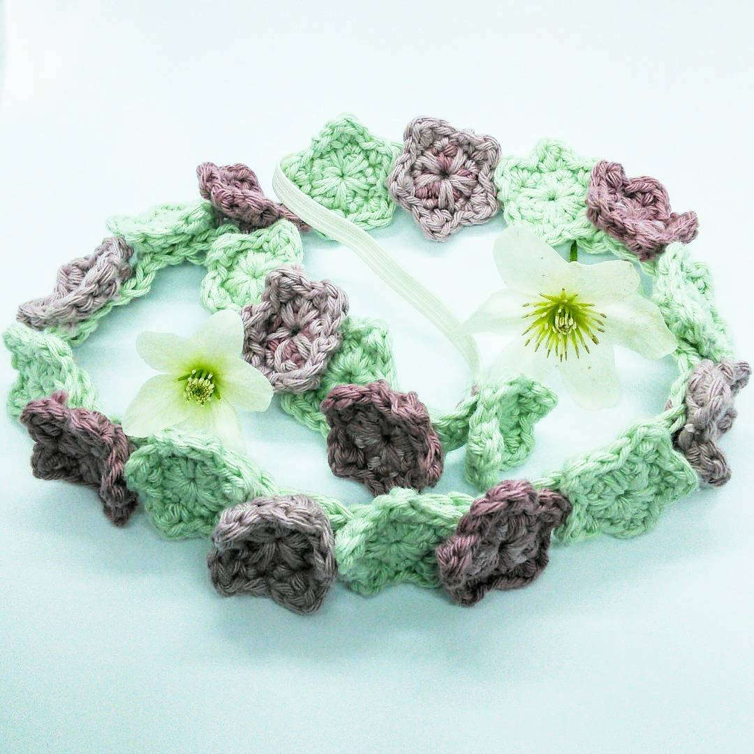 May Day Flower Headband - Free Crochet Pattern