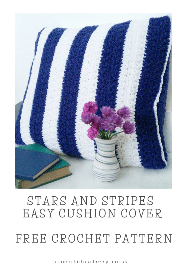 Stars and Stripes Free Crochet Cushion Pattern - Crochet Cloudberry