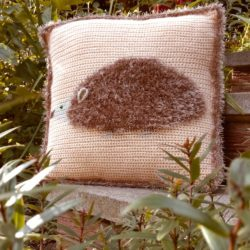 Fluffy Hedgehog Cushion Pattern - Crochet Cloudberry