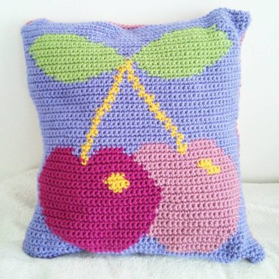 Crochet Cloudbery - Juicy Cherry Cushion