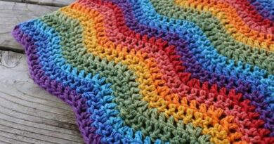 Rainbow Ripples Baby Blanket