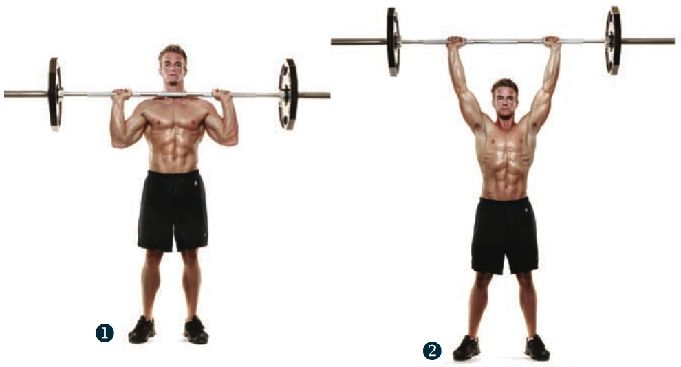 barbell military press exercise - 990×534