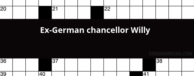 german chancellor crossword - 650×254