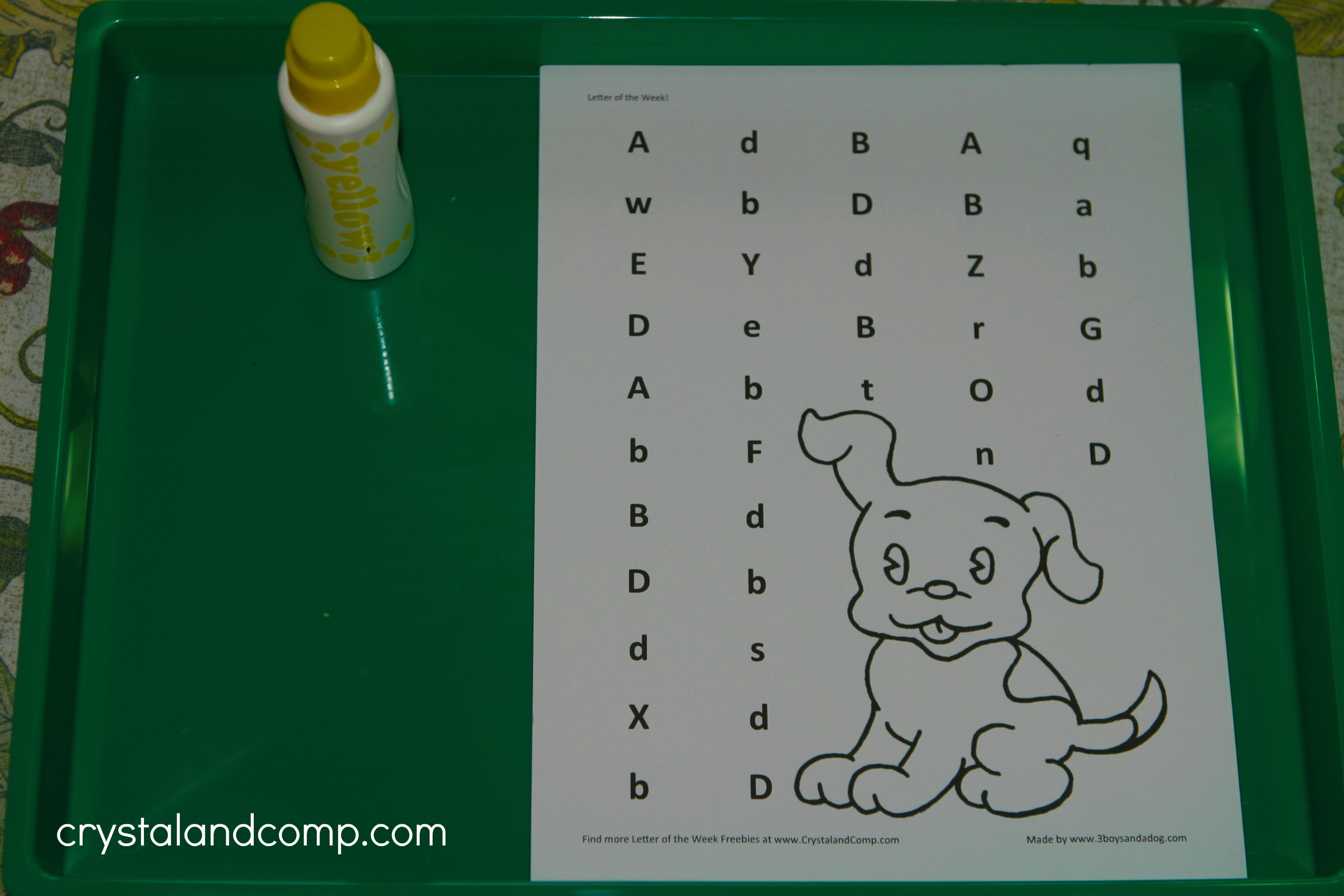 Preschool Letter Worksheets Letter D d is for dog preschool letter worksheets