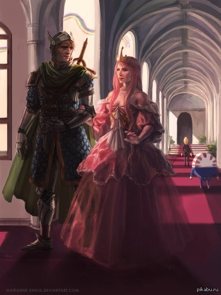 knight and princess - HD 900×1200