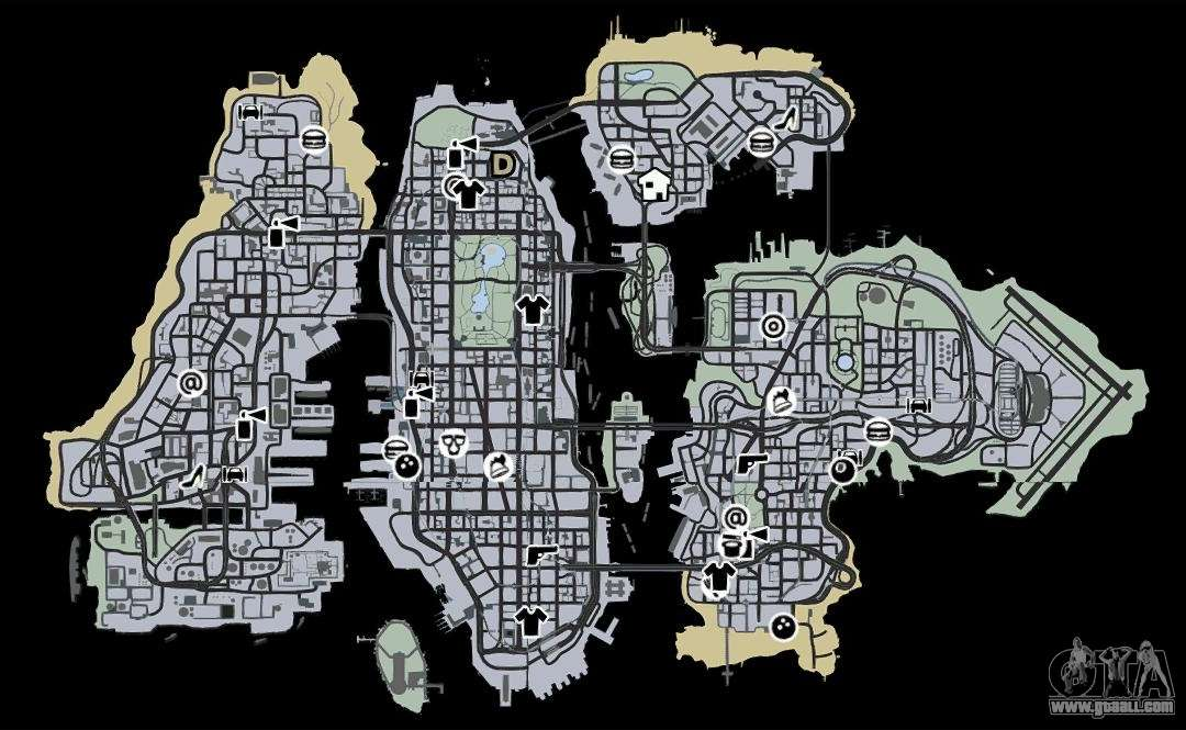 V Gta Map City Liberty