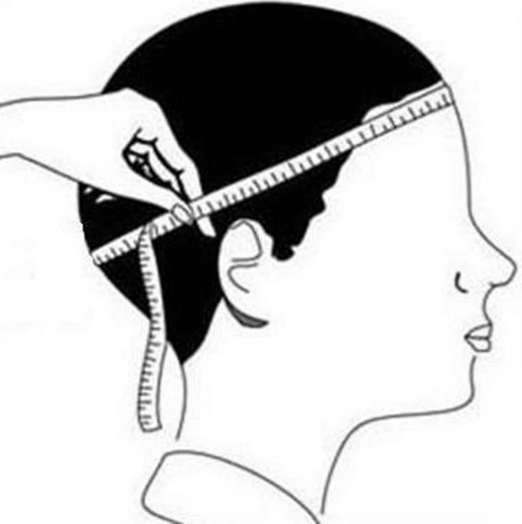How to measure the size of the head for the purchase of a headdress, photo number 2