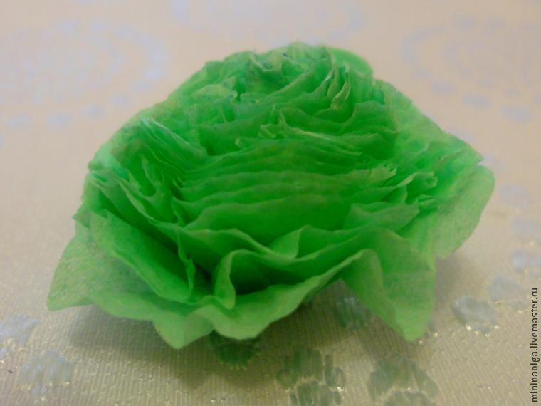 New Year's Christmas tree made of paper napkins with your own hands, photo № 11