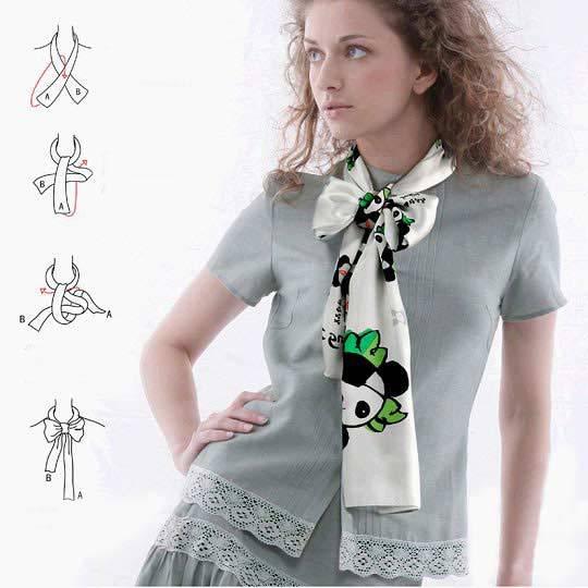 손수건을 아름답게 묶는 28 가지 방법, 사진 № 28