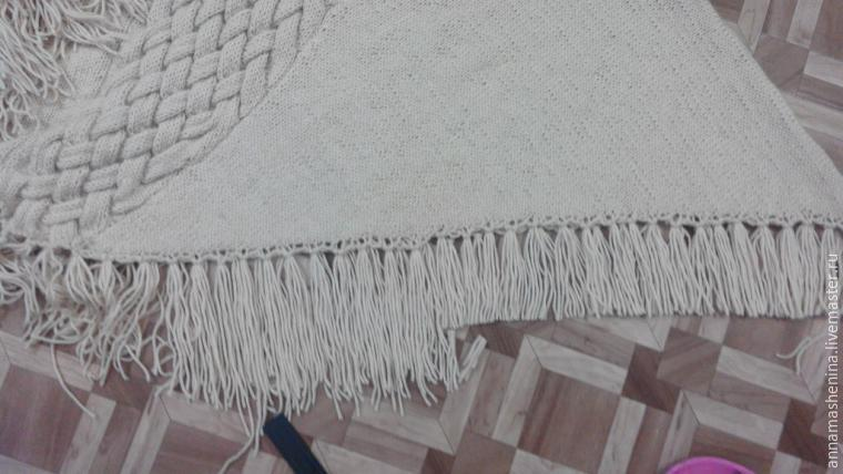 Comment tricoter Poncho triangulaire avec gorge, photo № 2