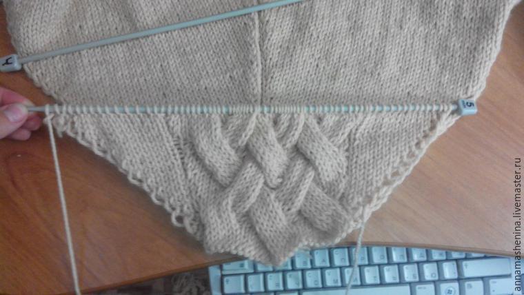 Maintenant, tricoter Poncho de deux rectangles avec tricot avec des diagrammes et des descriptions. Une telle cape sera courte et décorée avec des tresses. Vous pouvez le faire sur des boutons ou à capuchon, si vous le souhaitez. La taille de l'avenir est universelle.
