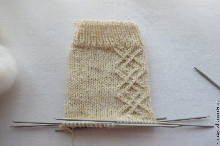 Neuloiset villa-sukat 5 neulosta, kuva № 6