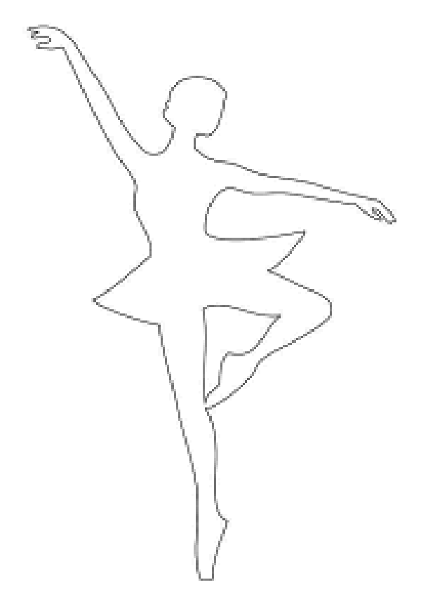 Balet di tingkap, atau memotong salji yang menarik, foto № 10