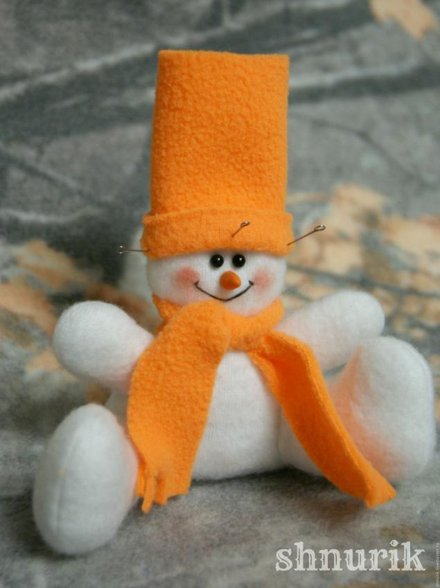 Снеговик в шапочке. Мастер-класс., фото № 24