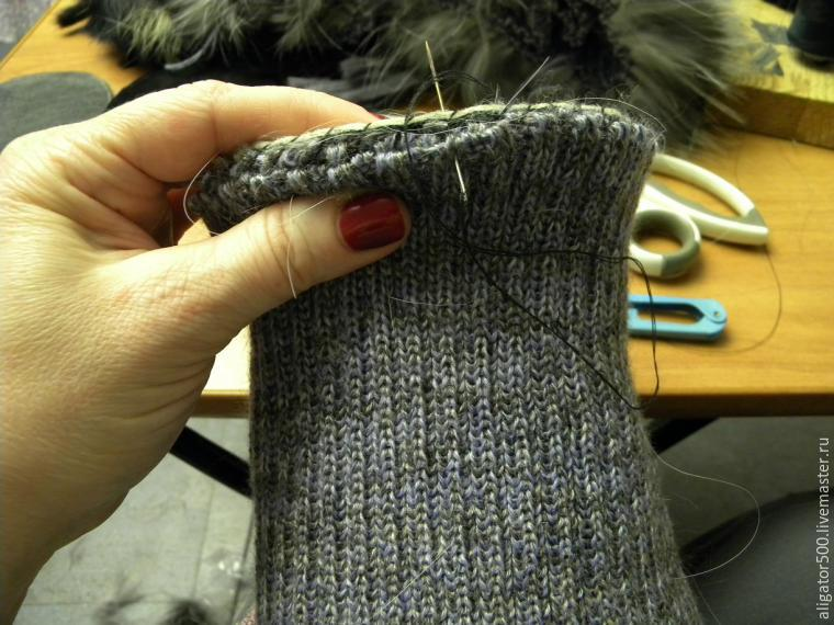 Slik syr du en pelshatt med en Fur Strip Stripe Method, Photo № 20