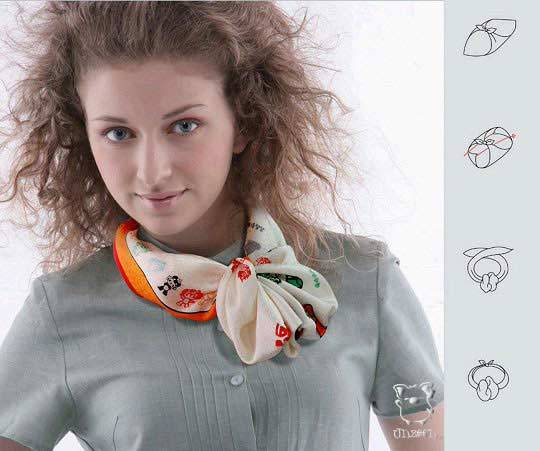 28 가지 방법 아름답게 스카프를 묶어, 사진 № 24