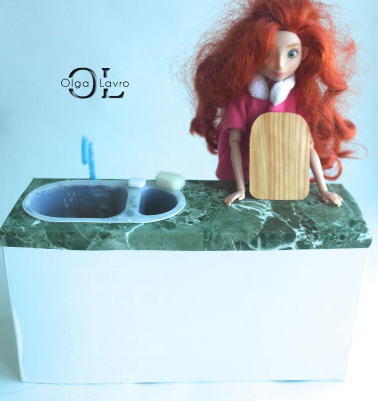 Делаем красивый дом и мебель для кукол Барби, фото № 40
