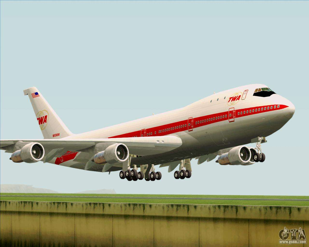 Boeing 747 100 Trans World Airlines Twa For Gta San Andreas