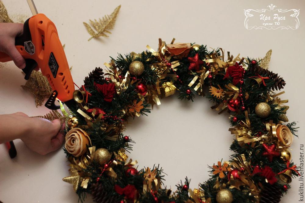 Создаем рождественский венок, фото № 33
