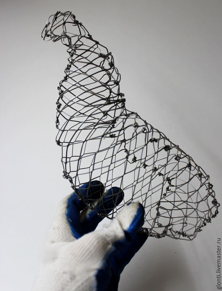 """ایجاد نماد سال 2017 یک خروس از سیم مش در تکنیک """"HOKN IRE""""، عکس № 7"""