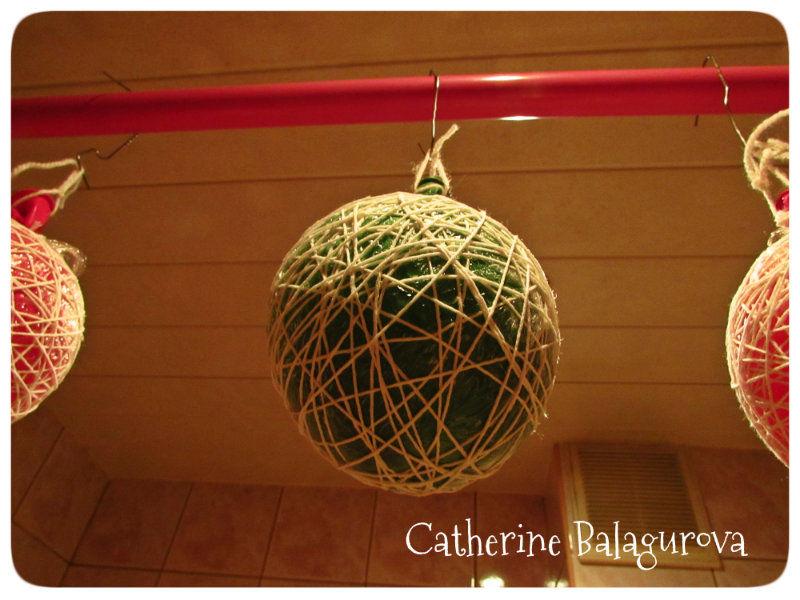 Как сделать шары из ниток и клея ПВА своими руками, фото № 11