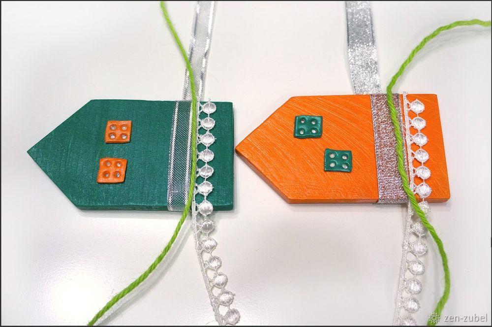 Создаём новогодние игрушки-подвески «Домики», фото № 28