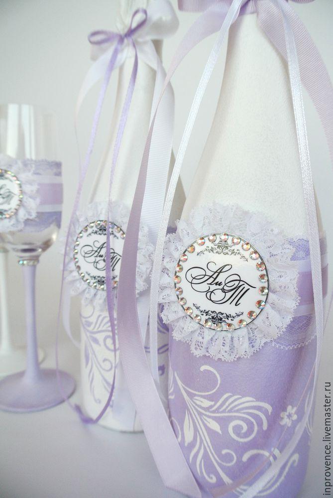 Esküvői fellendülés folytatódik. Esküvői pezsgő dekorációja. 1. rész, Photo № 29